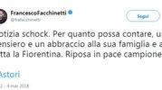 Il tweet di Francesco Facchinetti