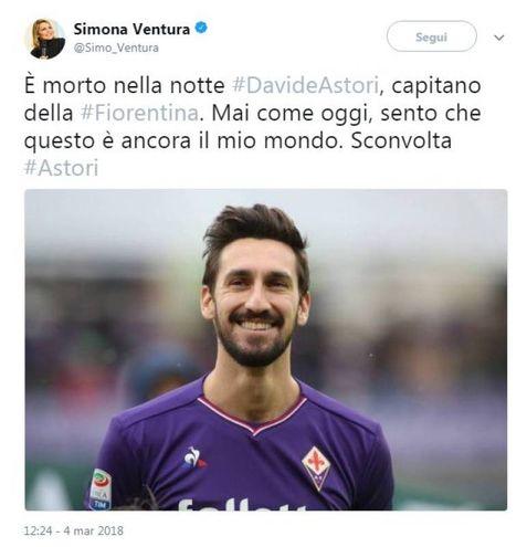 Il tweet di Simona Ventura