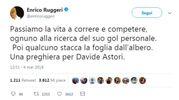 Il tweet di Enrico Ruggeri