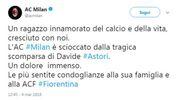 Il tweet del Milan