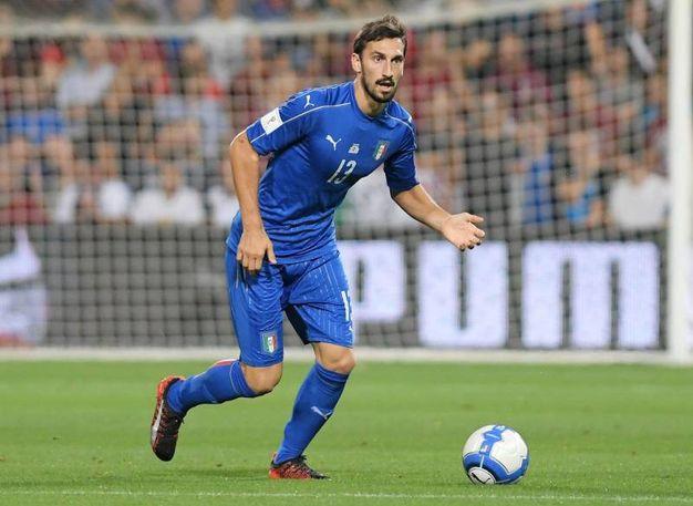 Davide Astori in maglia azzurra (Foto Liverani)