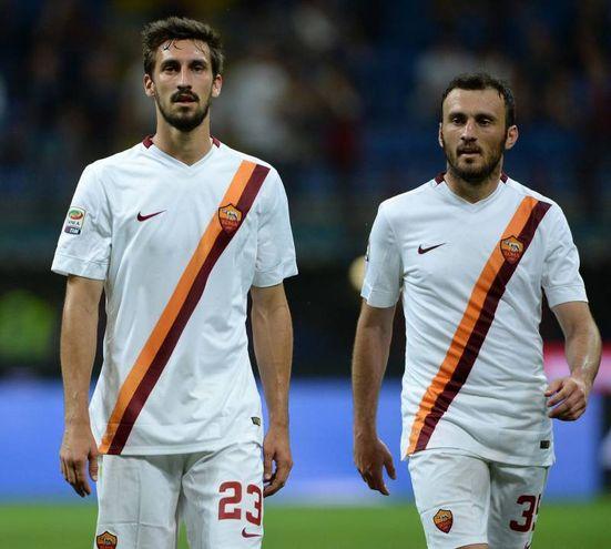 Astori con la maglia della Roma