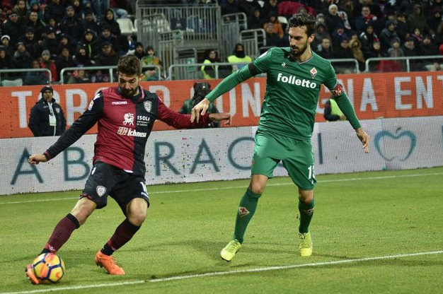 Cagliari-Fiorentina (foto Lapresse)