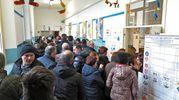 In fila (foto Petrangeli)