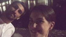 Astori con la compagna Francesca Fioretti