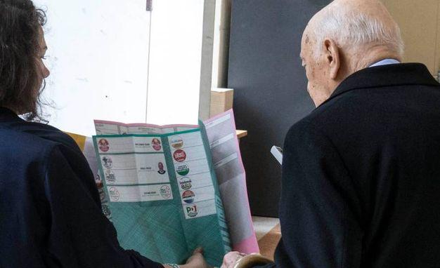Giorgio Napolitano al voto (Imagoeconomica)