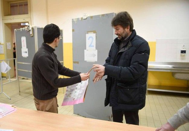 Il ministro Franceschini vota a Ferrara (Businesspress)