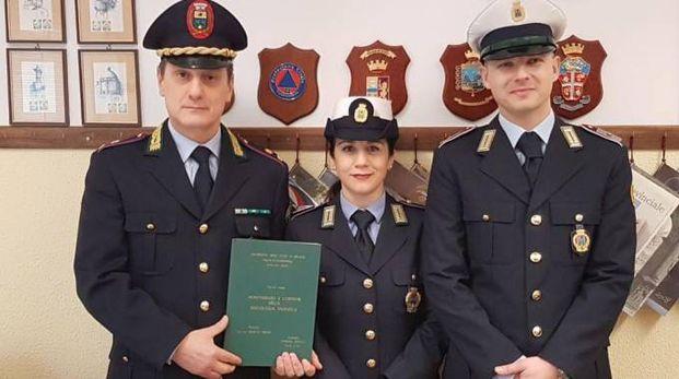 Il comandante Armando Clemente, Ina Grimaldi  e Andrea Picariello