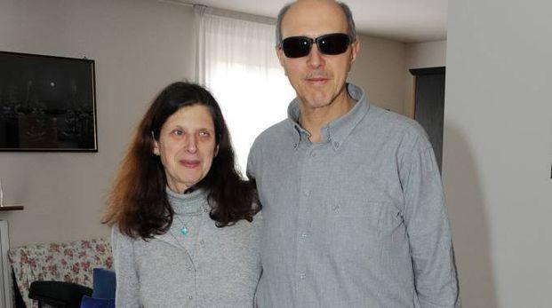 I coniugi non vedenti Roberta De Censi e Sergio Favetti