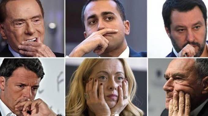 Elezioni 2018, i leader dei partiti in corsa (Ansa)