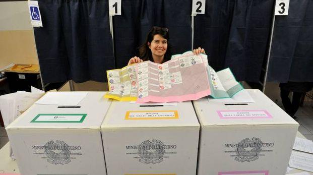 Elezioni politiche e regionali in Lombardia (Newpress)