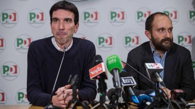 Elezioni 4 marzo 2018, Maurizio Martina e Matteo Orfini (ImagoE)
