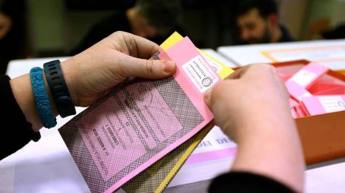 Una scheda elettorale