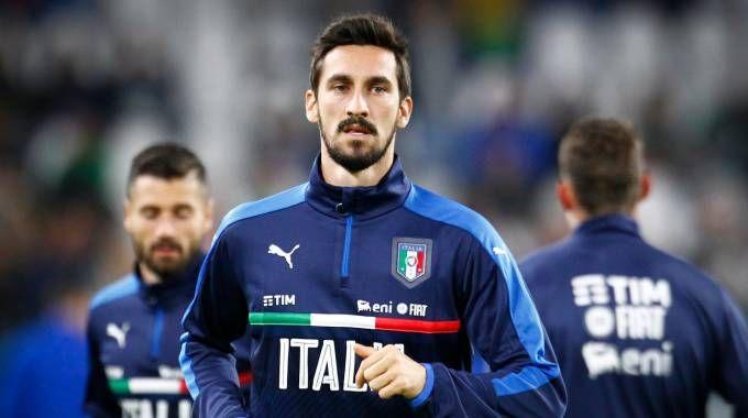 Davide Astori in maglia azzurra