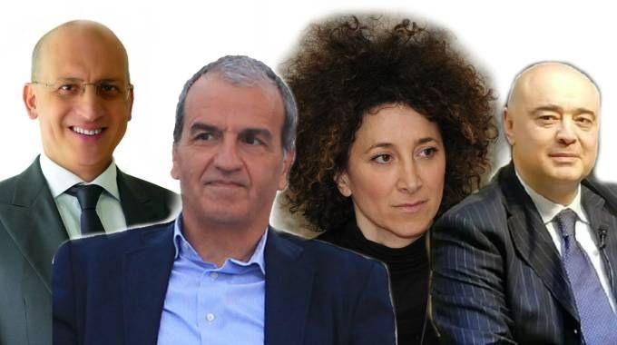 Da sinistra: Patassini (Lega), Morgoni (Pd), Emiliozzi (M5S) e Pazzaglini (Lega)