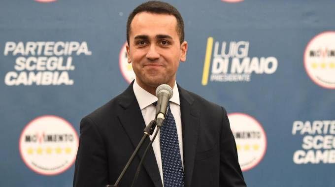 Luigi Di Maio in conferenza stampa post-elettorale (Ansa)