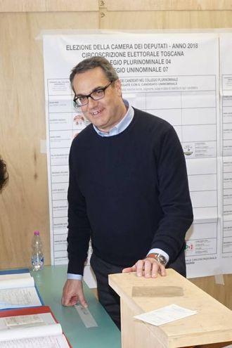 Felice Maurizio D'Ettore eletto alla Camera nel collegio Toscana 7 Arezzo per il centrodestra (foto Ops)