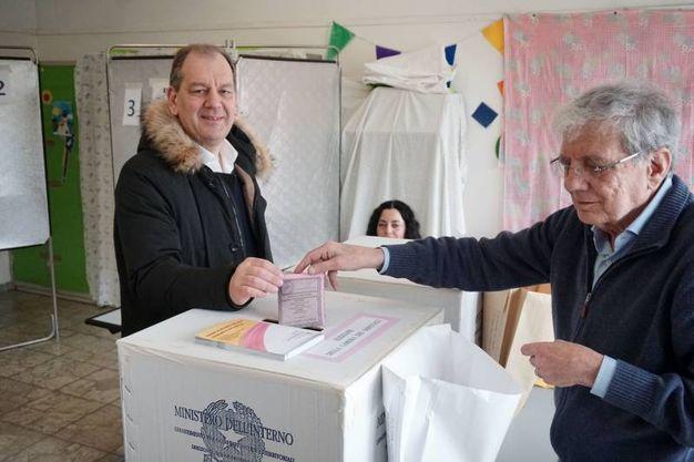 Patrizio Giacomo La Pietra ha vinto il collegio Toscana 3 Prato-Pistoia per il centrodestra al Senato (foto Acerboni/FotoCastellani)