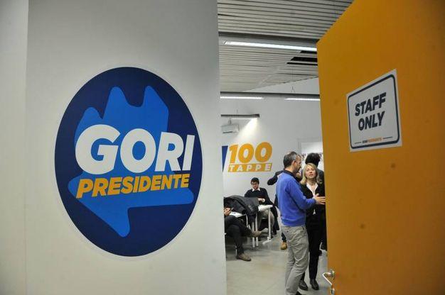 La sede del comitato elettorale di Gori (Newpress)