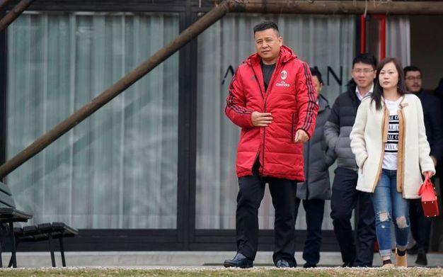 Li Yonghon in vista a Milanello (Lapresse)