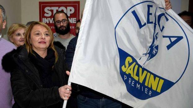 Maura Tomasi, Lega Nord, festeggia la vittoria alle elezioni (Foto Businesspress)