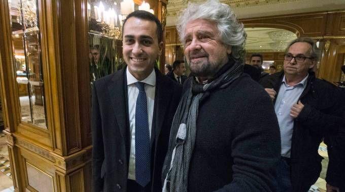 Elezioni 2018, Luigi Di Maio con Beppe Grillo