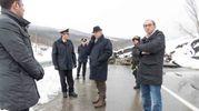 Anche il prefetto è molto preoccupato per il corso del Reno (foto Marchi)