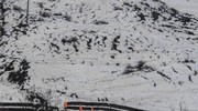 La frana vista dall'alto (foto Marchi)