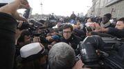 Il sindaco Nardella alla manifestazione (Umberto Visintini / New PressPhoto)