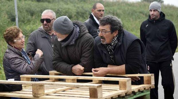 Le barricate di Gorino (foto archivio Businesspress)