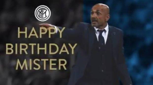 Gli auguri dell'Inter a Luciano Spalletti (Twitter)