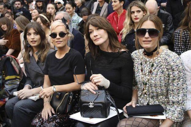 Alma Jodorowsky, Lily Allen, Carla Bruni Sarkozy, Yasmin Lebon (Ansa)