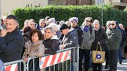 L'arrivo del carro funebre di Davide Astori a Coverciano (Germogli)
