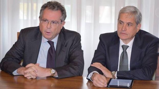 Giorgio Angelo Girelli, presidente del San Matteo e il direttore generale Nunzio Del Sorbo (Torres)