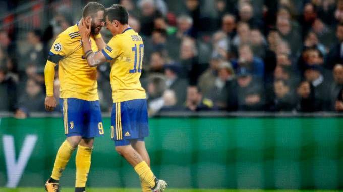 Tottenham-Juve 1-2, gol di Higuain e Dybala (LaPresse)