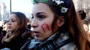 Manifestazione Lottomarzo, studenti in corteo (foto Lapresse)