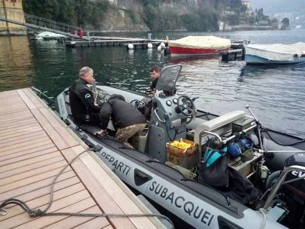 L'intervento dei palombari a Cernobbio (foto Marina Militare)