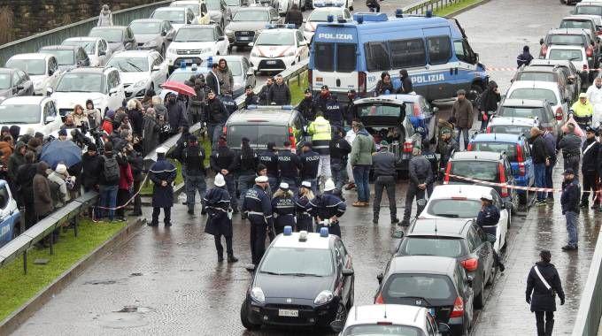 Omicidio sul ponte Vespucci (foto Gianluca Moggi/New Pressphoto)