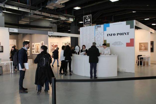 L'atrio di accoglienza a Mia Photo Fair