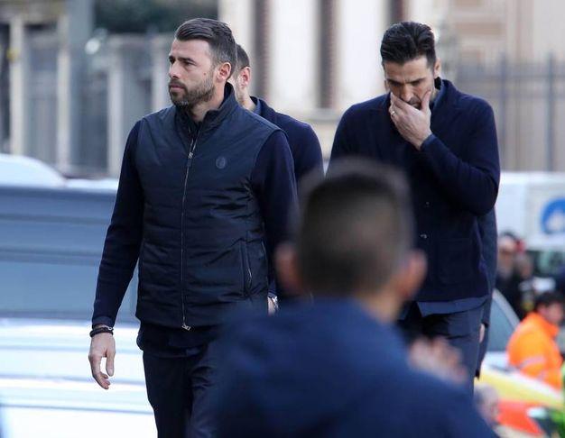 Buffon e una delegazione della Juventus ai funerali di Davide Astori (Liverani)