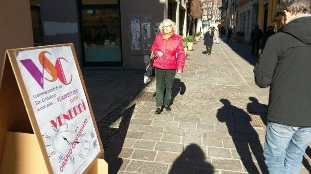 I cartelli in via San Cristoforo