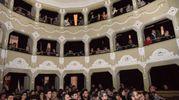 Il teatro delle Logge esaurito per Simone Scipioni (foto De Marco)