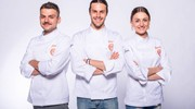 I tre finalisti di MasterChef 7 (foto masterchef.sky.it)