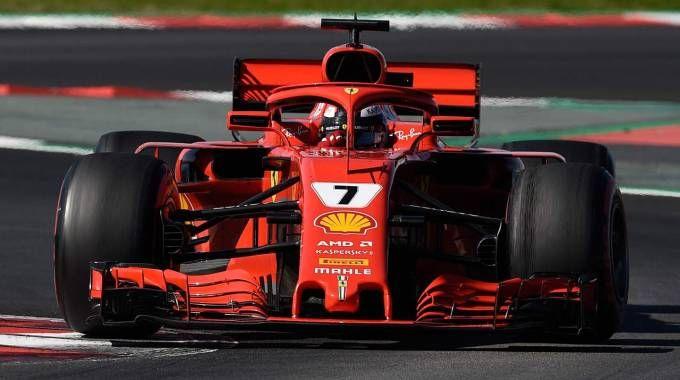 Kimi Raikkonen, più veloce l'ultimo giorno di test al Montmelò (Afp)