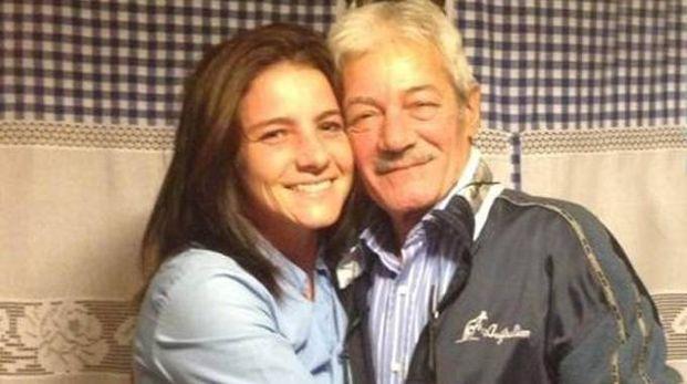 Giovanni Mascia con la figlia Mariasole