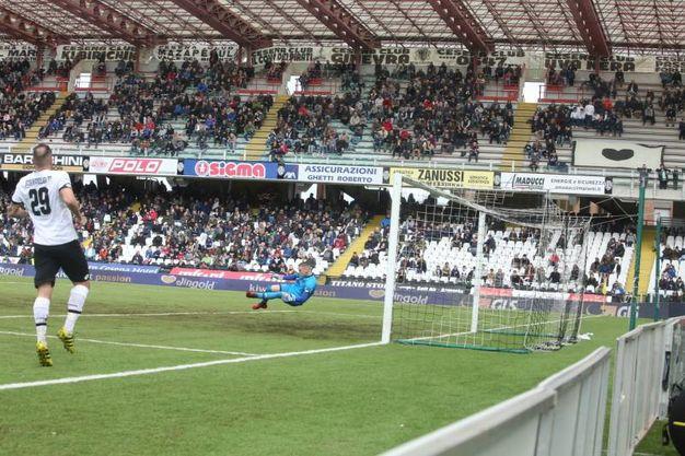 Nessun gol fra Cesena e Carpi (foto Ravaglia)