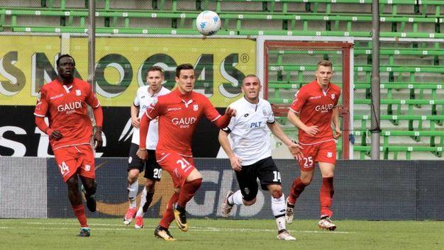 Dalmonte insegue la palla (foto Ravaglia)