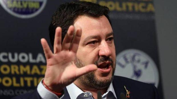 Il segretario della Lega Matteo Salvini (Ansa)