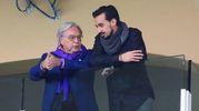 Diego Della Valle con il fratello di Davide Astori (Fotocronache Germogli)