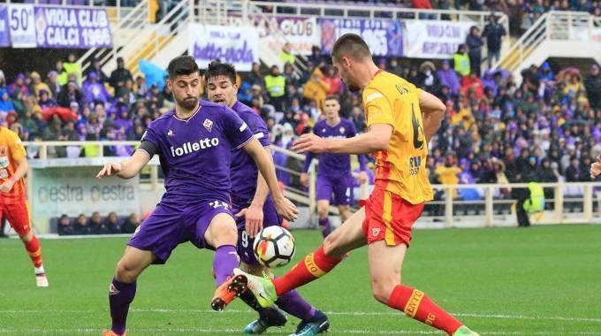 Benassi in campo contro il Benevento (Fotocronache Germogli)